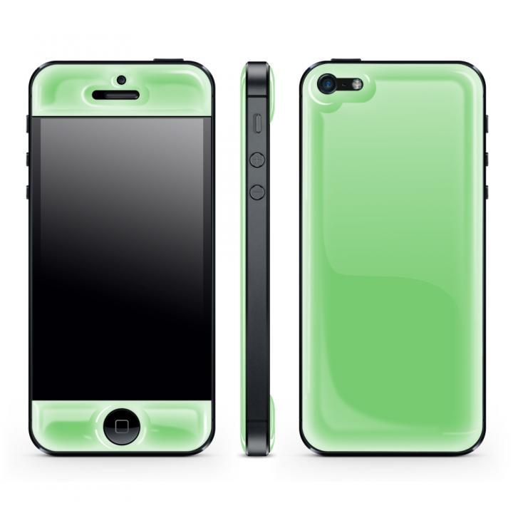 iPhone SE/5s/5 ケース Green Glow Gel Skin with bumper  iPhone 5_0