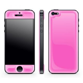 Pink Glow Gel Skin with bumper  iPhone 5