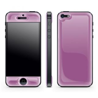 Purple Glow Gel Skin with bumper  iPhone 5