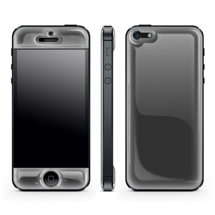 【iPhone SE/5s/5ケース】Black Glow Gel Skin with bumper  iPhone 5_0