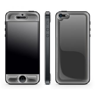 Black Glow Gel Skin with bumper  iPhone 5