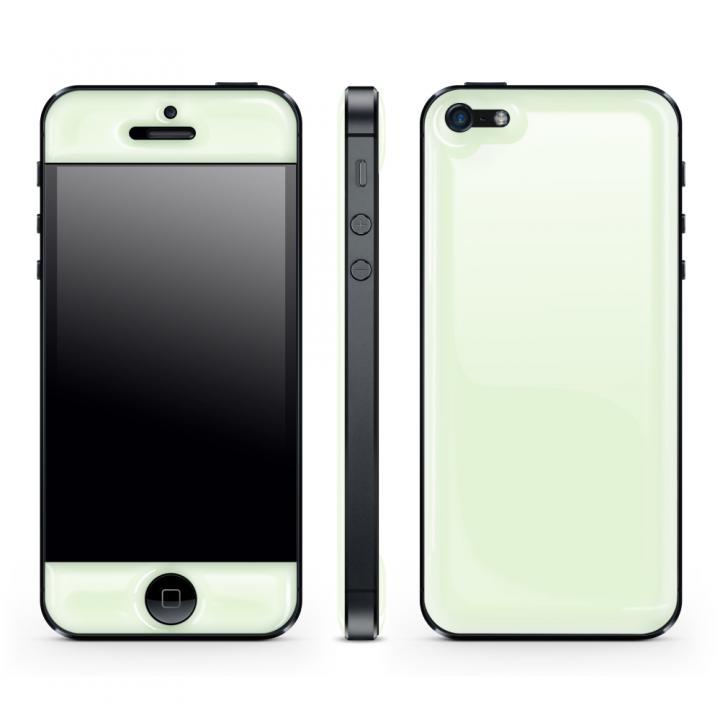 【iPhone SE/5s/5ケース】White Glow Gel Skin with bumper  iPhone5_0
