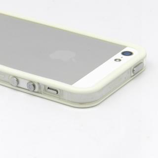 【iPhone SE/5s/5ケース】White Glow Gel Skin with bumper  iPhone5_2