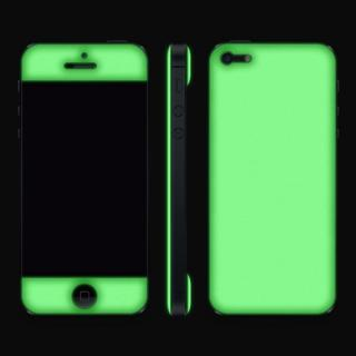 【iPhone SE/5s/5ケース】White Glow Gel Skin with bumper  iPhone5_5