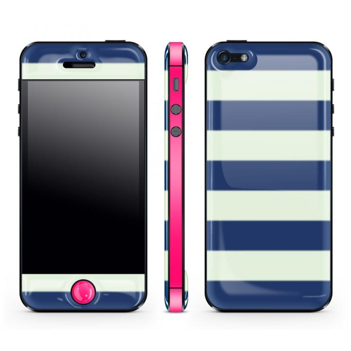【iPhone SE/5s/5ケース】Navy Border Glow Gel Skin with bumper  iPhone5_0