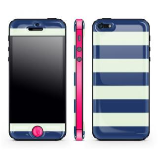 Navy Border Glow Gel Skin with bumper  iPhone5