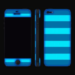 【iPhone SE/5s/5ケース】Navy Border Glow Gel Skin with bumper  iPhone5_4
