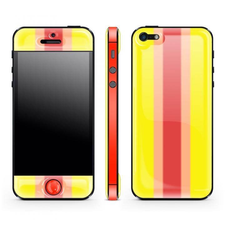 iPhone SE/5s/5 ケース Yellow Stripe Glow Gel Skin with bumper  iPhone 5_0