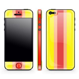 Yellow Stripe Glow Gel Skin with bumper  iPhone 5