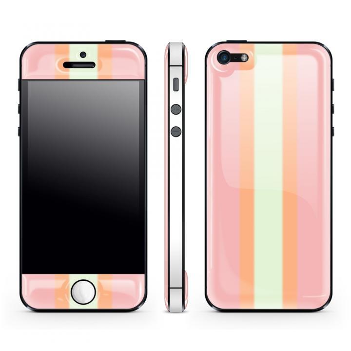iPhone SE/5s/5 ケース Pink Stripe Glow Gel Skin with bumper  iPhone 5_0