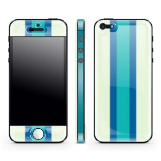 White Stripe Glow Gel Skin with bumper  iPhone5