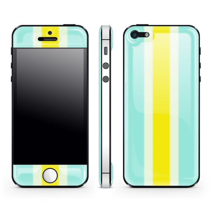 iPhone SE/5s/5 ケース Blue Stripe Glow Gel Skin with bumper  iPhone5_0