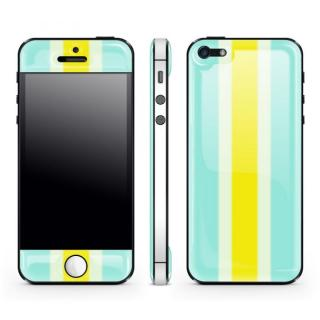 Blue Stripe Glow Gel Skin with bumper  iPhone5
