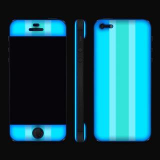 【iPhone SE/5s/5ケース】Blue Stripe Glow Gel Skin with bumper  iPhone5_4