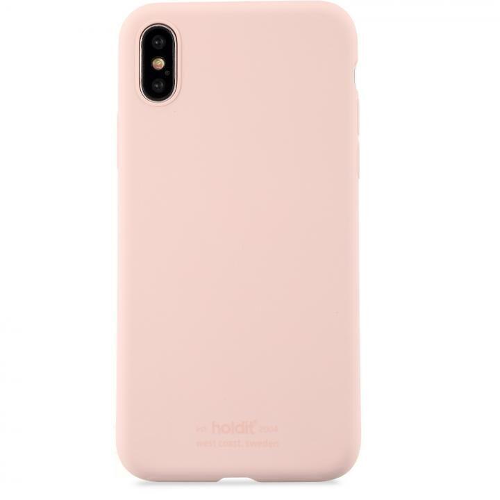 iPhone XS/X ケース ソフトタッチシリコーンケース ブラッシュピンク iPhone XS/X_0