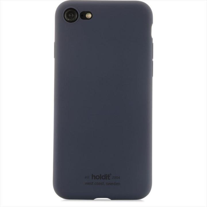iPhone8/7 ケース ソフトタッチシリコーンケース ネイビーブルー iPhone 8/7_0