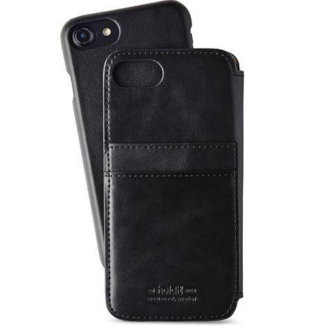 iPhone8/7/6s/6 ケース Berlin レザー調セパレート手帳型ケース ブラック iPhone 8/7/6s/6_0