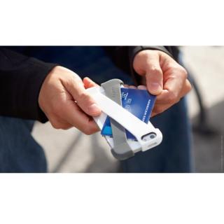 クロスオーバー・iPhone用ラバーバンド付きケース(クラシックホワイト/チャコール)