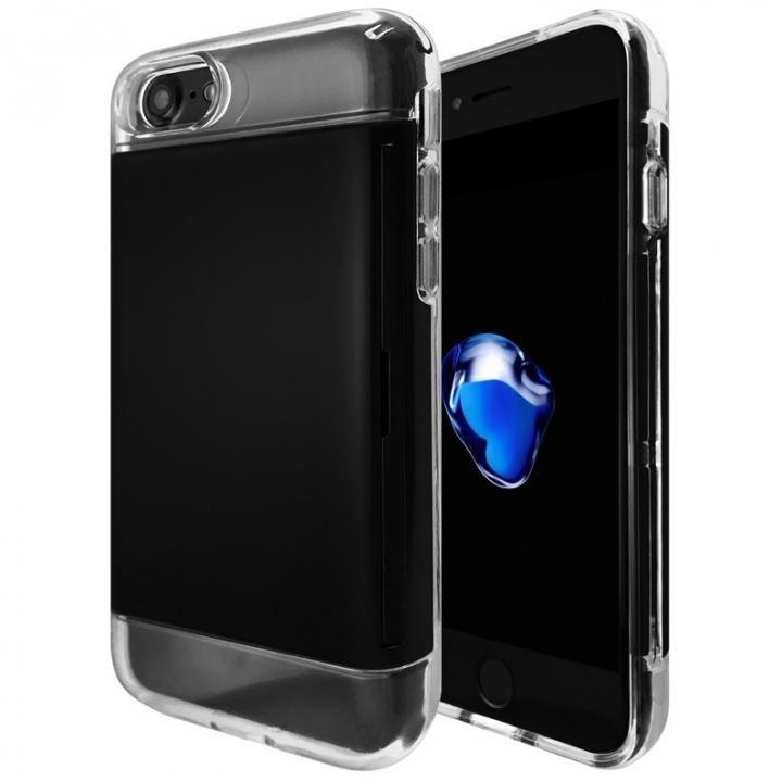 【iPhone8/7ケース】カードが入る耐衝撃ケース エラー防止シート内蔵  Alex ブラック iPhone 8/7_0