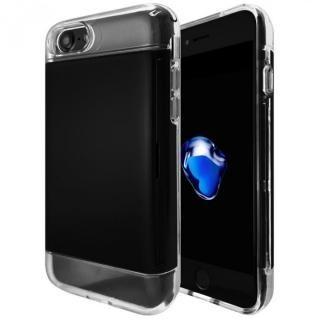 カードが入る耐衝撃ケース エラー防止シート内蔵  Alex ブラック iPhone 7