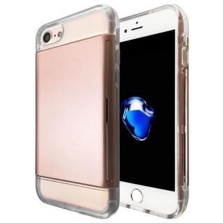 カードが入る耐衝撃ケース エラー防止シート内蔵  Alex ローズゴールド iPhone 7