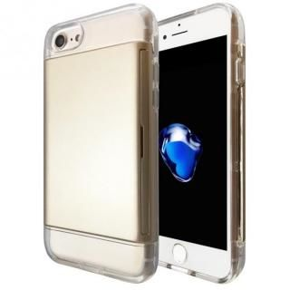 カードが入る耐衝撃ケース エラー防止シート内蔵  Alex ゴールド iPhone 7