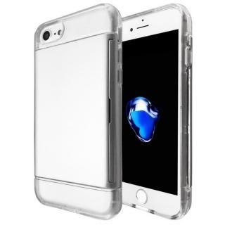 カードが入る耐衝撃ケース エラー防止シート内蔵  Alex シルバー iPhone 7