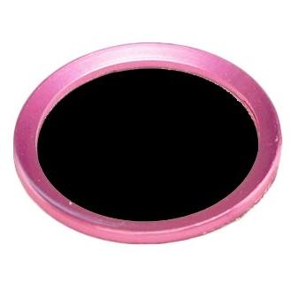TouchID対応 ホームボタンシール iFinger ブラック+ライトピンク_0