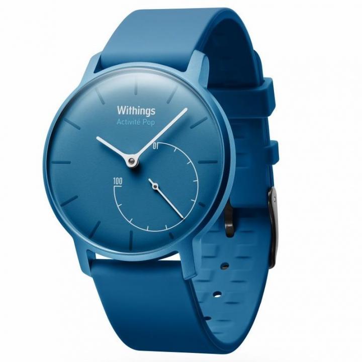 活動量計機能搭載 防水スマートウォッチ Withings Activite Pop ブルー