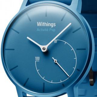活動量計機能搭載 防水スマートウォッチ Withings Activite Pop ブルー_1