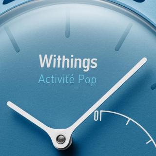 活動量計機能搭載 防水スマートウォッチ Withings Activite Pop ブルー_2