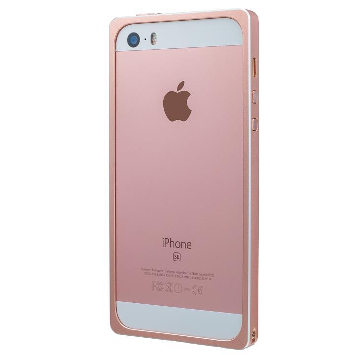iPhone SE/5s/5 ケース GRAMAS ストレートメタルバンパー ローズゴールド iPhone SE/5s/5_0