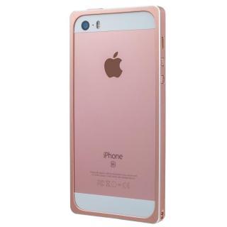iPhone SE/5s/5 ケース GRAMAS ストレートメタルバンパー ローズゴールド iPhone SE/5s/5