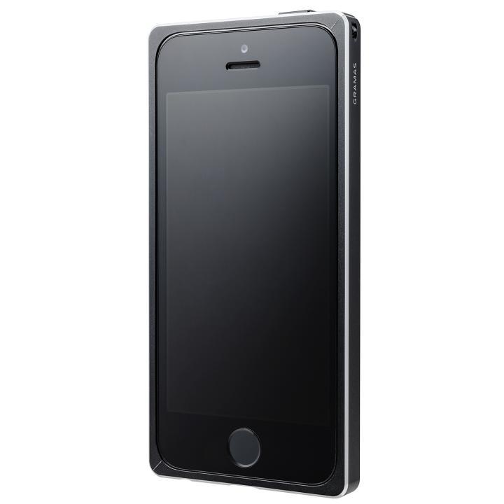 iPhone SE/5s/5 ケース GRAMAS ストレートメタルバンパー ブラック iPhone SE/5s/5_0