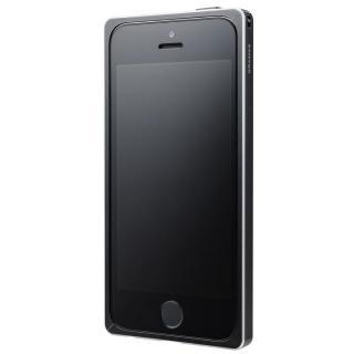 【iPhone SE/5s/5ケース】GRAMAS ストレートメタルバンパー ブラック iPhone SE/5s/5