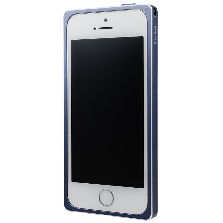 iPhone SE/5s/5 ケース GRAMAS ストレートメタルバンパー ネイビー iPhone SE/5s/5_0