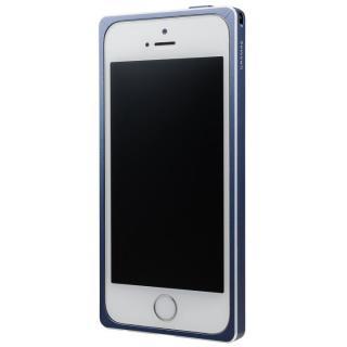 iPhone SE/5s/5 ケース GRAMAS ストレートメタルバンパー ネイビー iPhone SE/5s/5