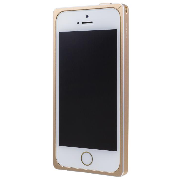 iPhone SE/5s/5 ケース GRAMAS ストレートメタルバンパー ゴールド iPhone SE/5s/5_0
