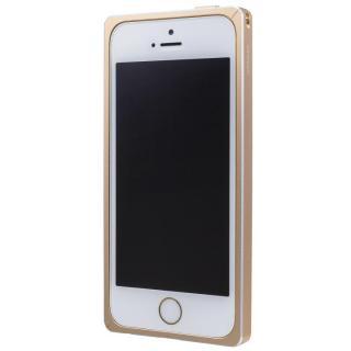 GRAMAS ストレートメタルバンパー ゴールド iPhone SE/5s/5