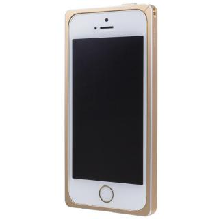 iPhone SE/5s/5 ケース GRAMAS ストレートメタルバンパー ゴールド iPhone SE/5s/5