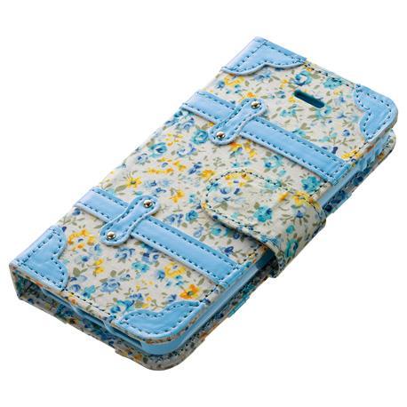 【iPhone SE/5s/5ケース】レトロで上品な花柄 花柄手帳型ケース iPhone SE/5s/5c/5ケース_0