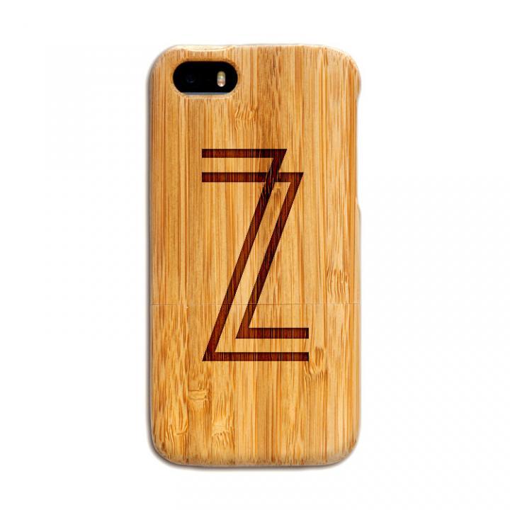iPhone SE/5s/5 ケース 天然の竹を使った一点モノ kibaco 天然竹ケース アルファベットZ iPhone SE/5s/5ケース_0