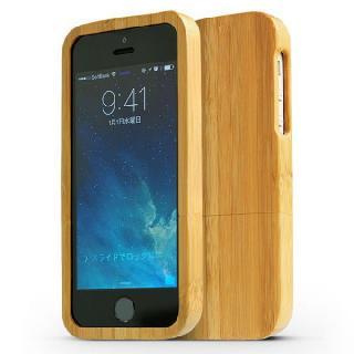 【iPhone SE/5s/5ケース】天然の竹を使った一点モノ kibaco 天然竹ケース アルファベットA iPhone SE/5s/5ケース_1