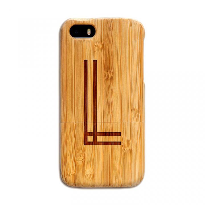 iPhone SE/5s/5 ケース 天然の竹を使った一点モノ kibaco 天然竹ケース アルファベットL iPhone SE/5s/5ケース_0