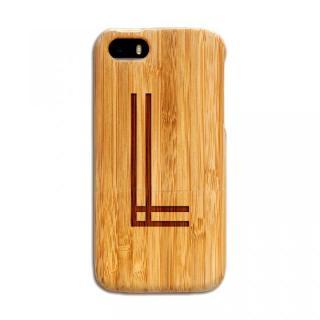 天然の竹を使った一点モノ kibaco 天然竹ケース アルファベットL iPhone SE/5s/5ケース