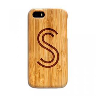 天然の竹を使った一点モノ kibaco 天然竹ケース アルファベットS iPhone SE/5s/5ケース