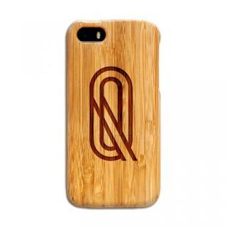 天然の竹を使った一点モノ kibaco 天然竹ケース アルファベットQ iPhone SE/5s/5ケース