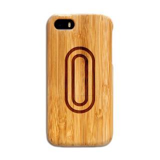 天然の竹を使った一点モノ kibaco 天然竹ケース アルファベットO iPhone SE/5s/5ケース