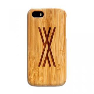 天然の竹を使った一点モノ kibaco 天然竹ケース アルファベットX iPhone SE/5s/5ケース