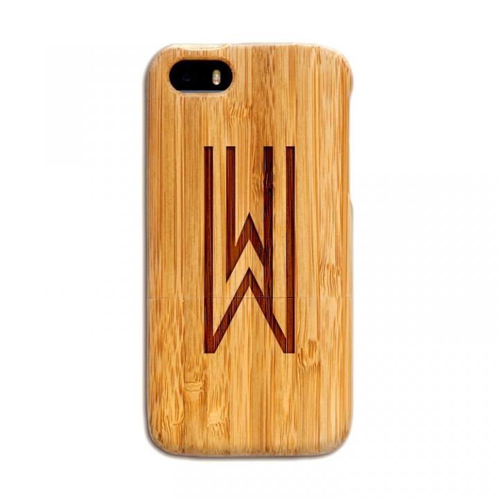 iPhone SE/5s/5 ケース 天然の竹を使った一点モノ kibaco 天然竹ケース アルファベットW iPhone SE/5s/5ケース_0